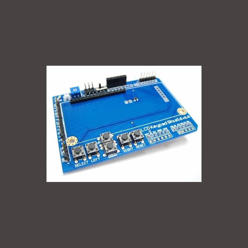 Keypad lcd shield v arduino compatible corzotech