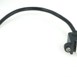 USB Cable, Micro-B to Standard-B Panel Mount Adaptor