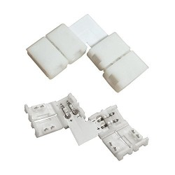 8MM L Shape Snap Down 3528 LED Strip connector
