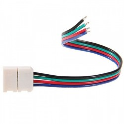 10MM Snap Down Strip Wire LED Strip Connector for RGB LED Strip