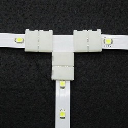 8MM T Shape Snap Down 3528 LED Strip connector