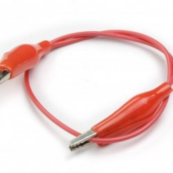 25 cm Alligator test cable Red