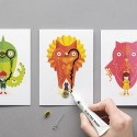 Flashing Card Set Power Animals