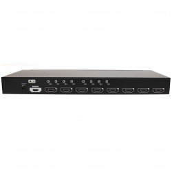 8-port HDMI splitter and signal amplifier