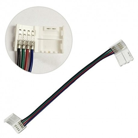 10MM Snap Down Strip to Strip With Wire RGB Strip Connector