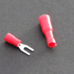 12-10 AWG 1/4in Heat Shrink Snap Spade