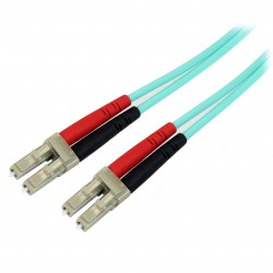 Fiber Optic Cable - 10 Gb Aqua - Multimode Duplex 50/125 - LSZH - LC/LC - 3 m