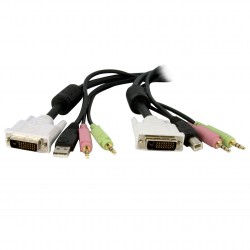 KVM Cable for DVI and USB KVM Switches with Audio & Microphone - 6ft