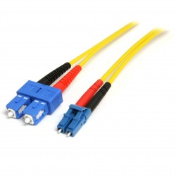 Fiber Optic Cable - Single-Mode Duplex 9/125 - LSZH - LC/SC - 7 m
