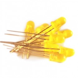 10 Yellow Led 5mm
