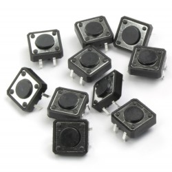 12mm push buttons 10x