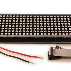 32X8 Red LED Dot Matrix Unit Board - P7.62