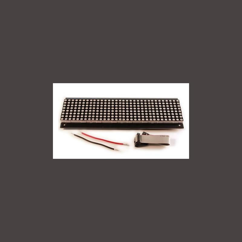 32X8 Red LED Dot Matrix Unit Board - P7 62 - Corzotech