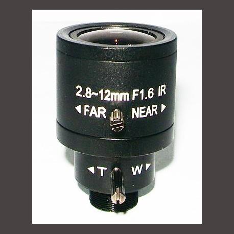 2.8-12mm Varifocal Fixed Iris, M12*0.5