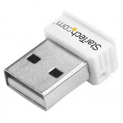 USB 150Mbps Mini Wireless N Network Adapter - 802.11n/g 1T1R USB WiFi Adapter - White