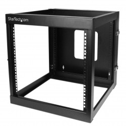 12U 22in Depth Hinged Open Frame Wall Mount Server Rack