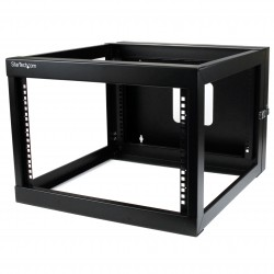 6U 22in Depth Hinged Open Frame Wall Mount Server Rack