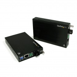10/100 Mbps Ethernet Single Mode WDM Fiber Media Converter Kit SC 20km