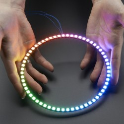 NeoPixel 1/4 60 Ring - WS2812 5050 RGB LED w/Integrated Drivers