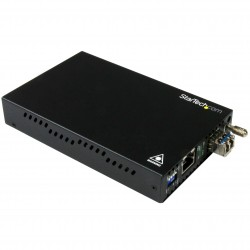 Gigabit Ethernet Copper-to-Fiber Media Converter - SM LC - 20 km