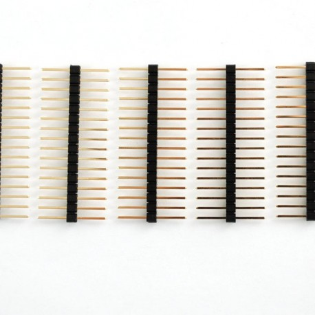 "Extra-long break-away 0.1"" 16-pin strip male header (5 pieces)"