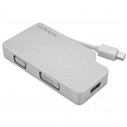 Aluminum Travel A/V Adapter: 3-in-1 Mini DisplayPort to VGA, DVI or HDMI - 4K