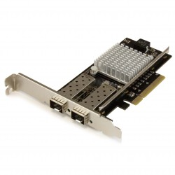2-Port 10G Fiber Network Card with Open SFP+ - PCIe, Intel Chip