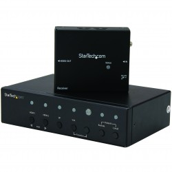 Multi-Input HDBaseT Extender with Built-in Switch - DisplayPort, VGA and HDMI Over CAT5 or CAT6 - Up to 4K