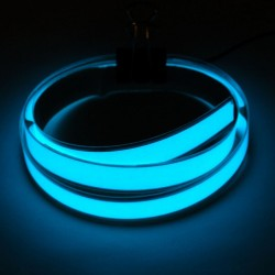 Aqua Electroluminescent (EL) Tape Strip