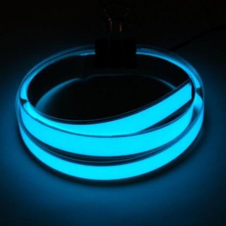Aqua Electroluminescent (EL) Tape Strip