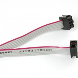 6-pin Socket/Socket IDC cable - 6""