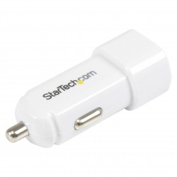 Dual-Port USB Car Charger - 17W/3.4A - White