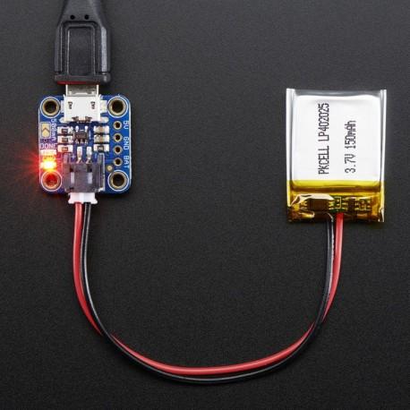 Adafruit Micro Lipo w/MicroUSB Jack - USB LiIon/LiPoly charger - v1