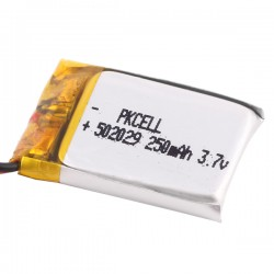 Lithium Ion Polymer Battery - 3.7v 250mAh