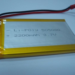 Lithium Ion Polymer Battery - 3.7v 2200mAh