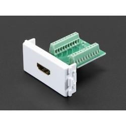 Panel Mount HDMI Socket to Terminal Block Breakout